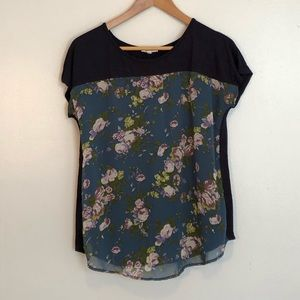EUC Mixed Media Top from Maurices